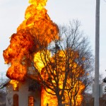 Fully engulfed Building